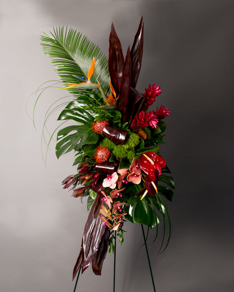 Exotic Foliage & Floral Spray