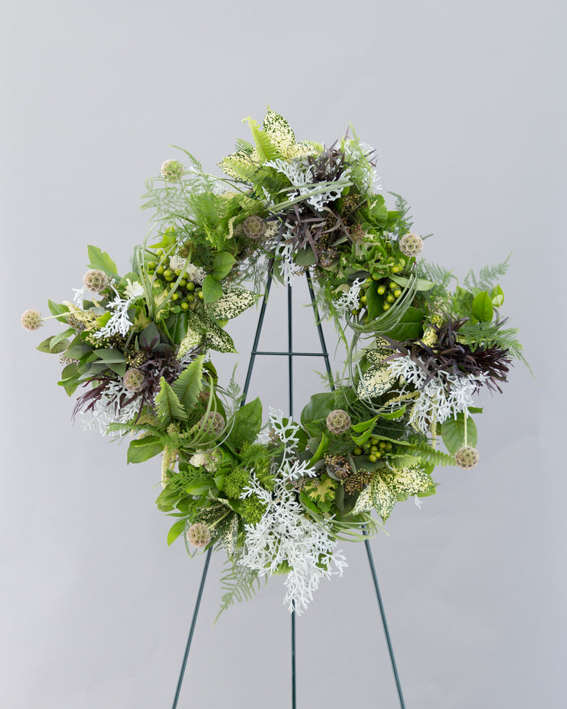 Diamond Shaped Wreath with Premium Foliage