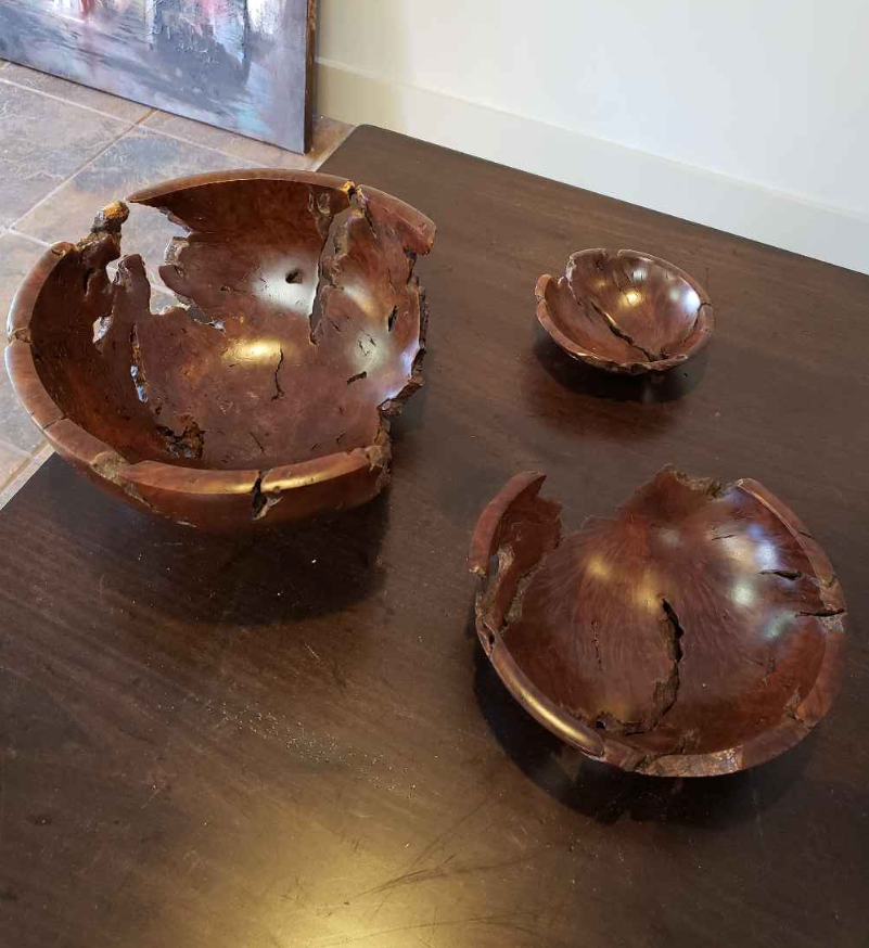 Nested Manzanita Bowls by John Wells
