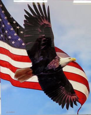 Patriotic Flag with Eagle