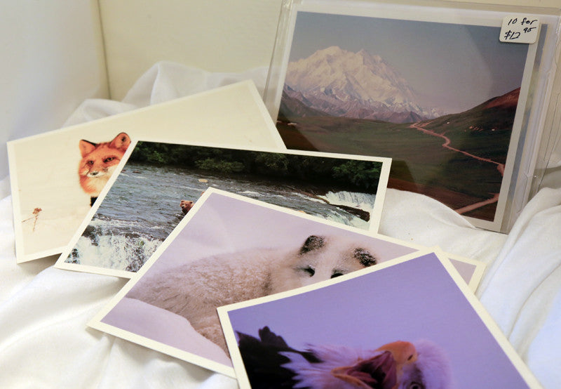 Pack of ten AK animal cards w/envelopes