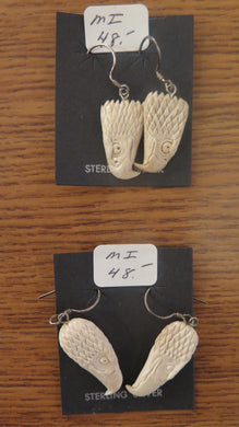 Mammoth Ivory Eagle Earrings