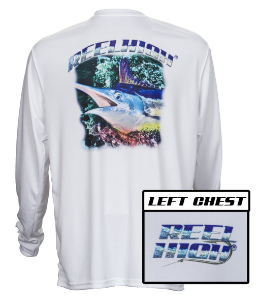 UPF50-Performance Microfiber-Long Sleeve-Marlin-White - ReelHigh - 1