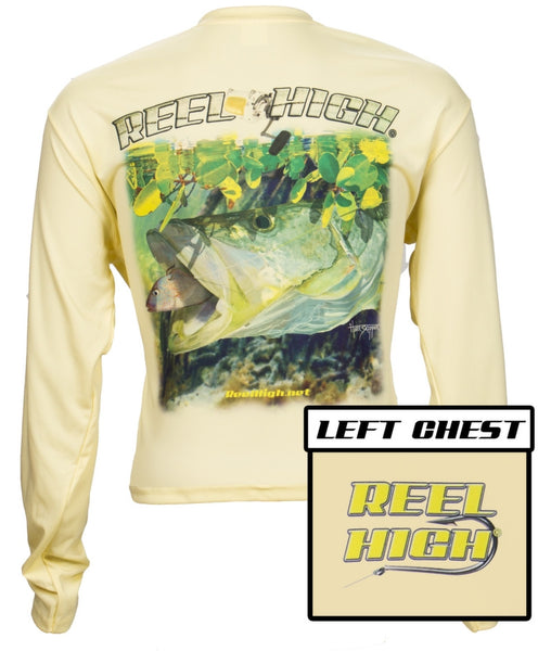 UPF50-Performance Microfiber-Long Sleeve-Snook - Yellow - ReelHigh - 1