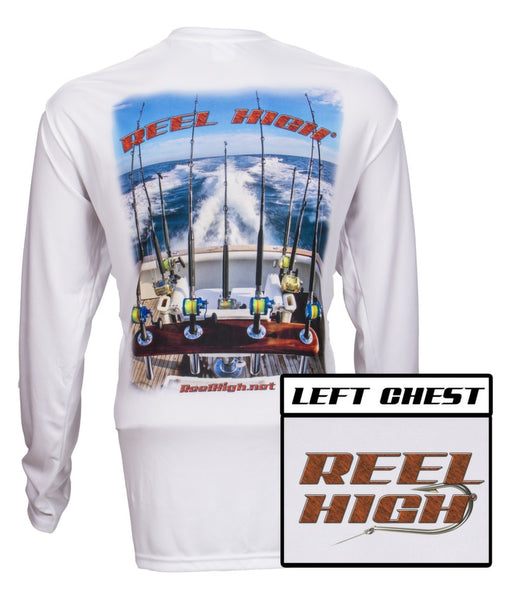 UPF50-Performance Microfiber-Long Sleeve-Transome View - Wood Grain Letters - ReelHigh - 1