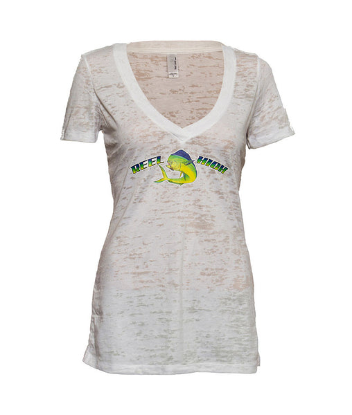 Dolphin Burnout V Neck - ReelHigh