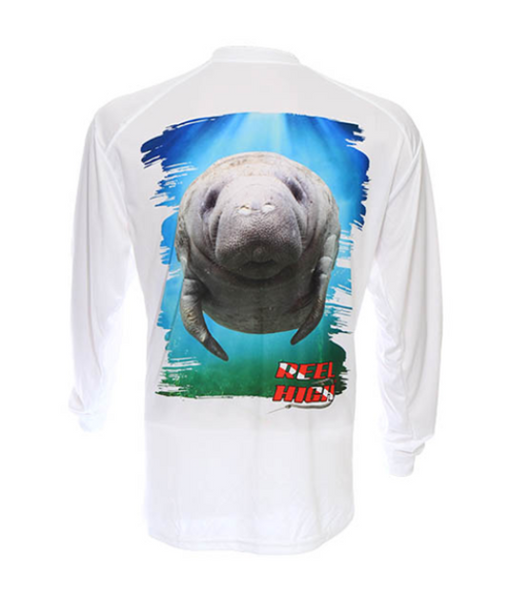 UPF50-Performance Microfiber-Long Sleeve-Manatee-White - ReelHigh