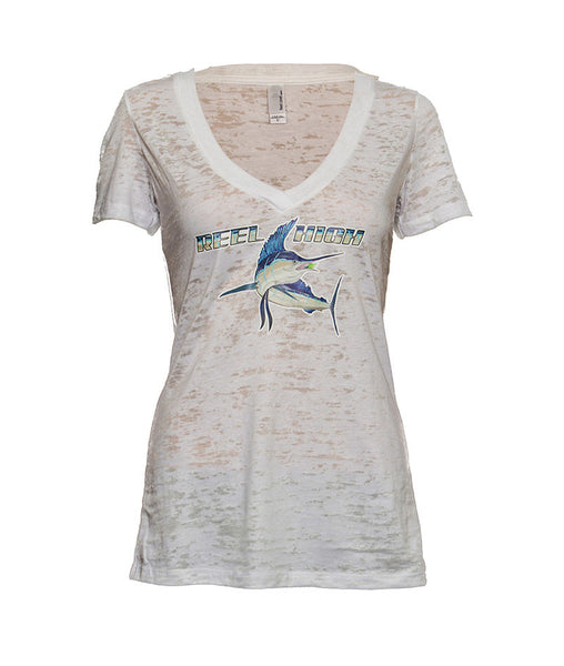 Marlin Burnout V Neck