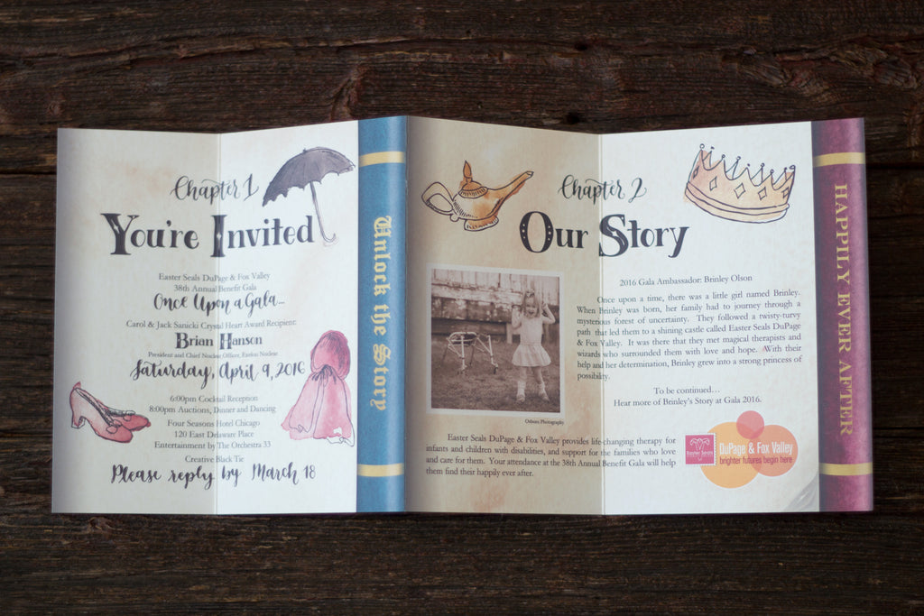 Once Upon a Gala Watercolor Invite
