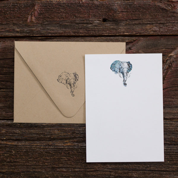 Elephant Letterpress Notecards