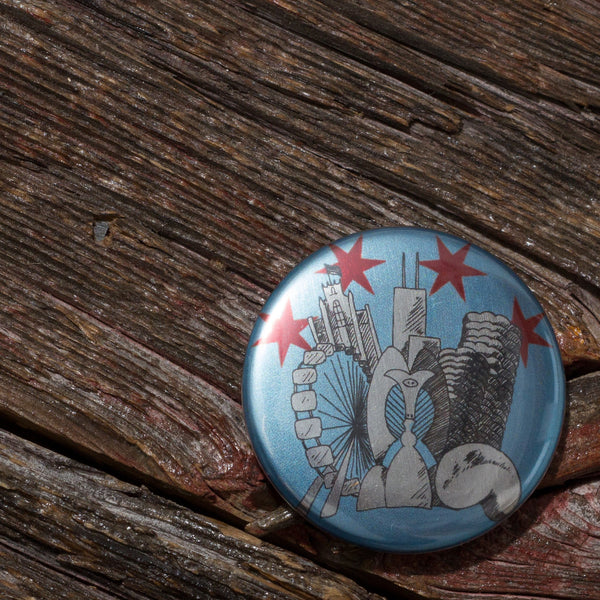 Chicago Flag Architecture Pin