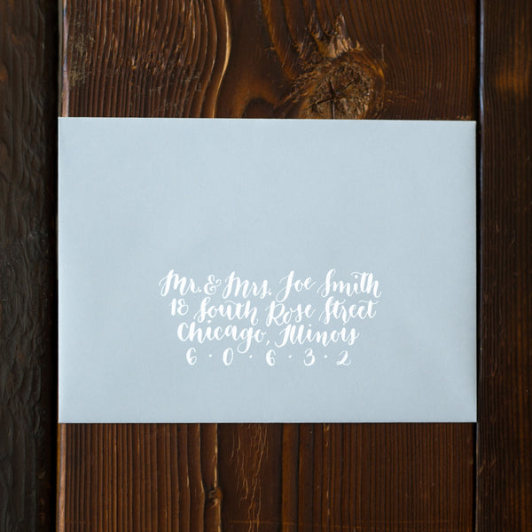 Blue and White Envelope Calligraphy
