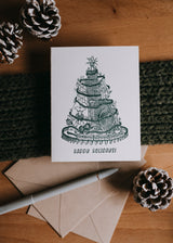 Chicago Christmas Letterpress Holiday Card