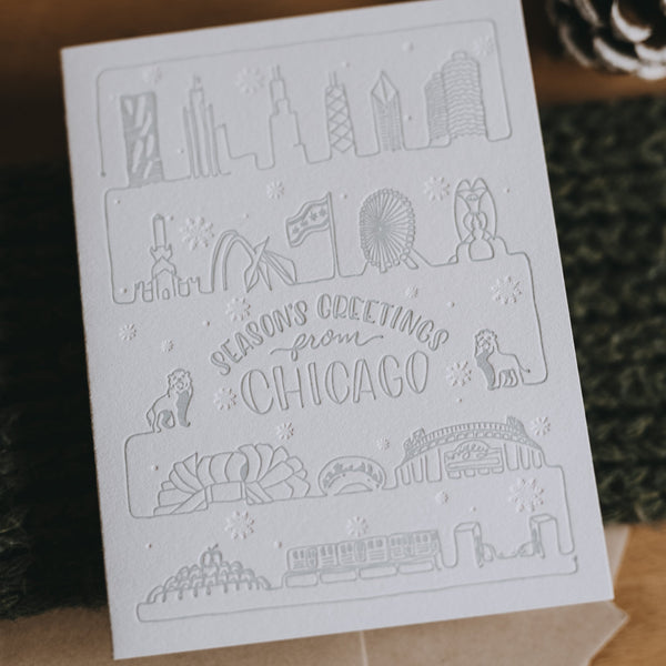 Chicago Holidays Letterpress Card