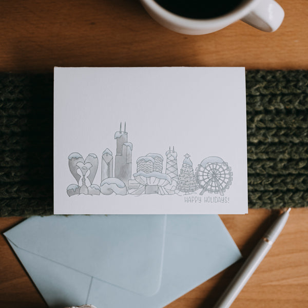 Snowy Chicago Holiday Cards