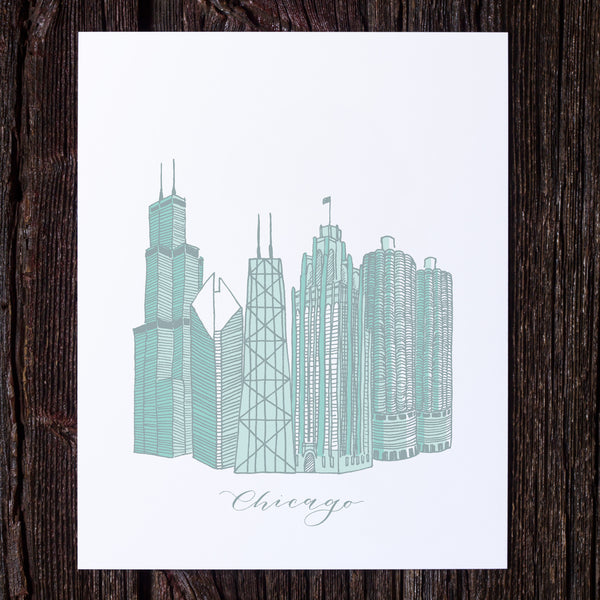 Chicago Architecture Print