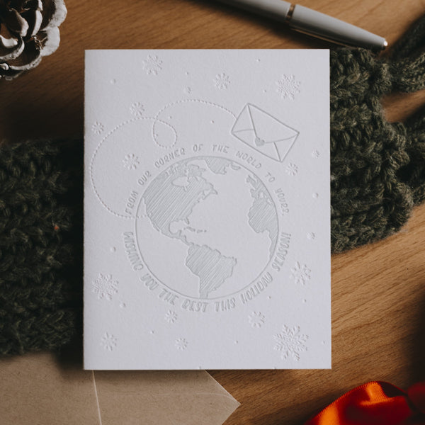 World Holiday Wishes Letterpress Card