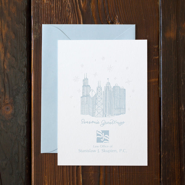 Personalized Chicago Architecture Holiday