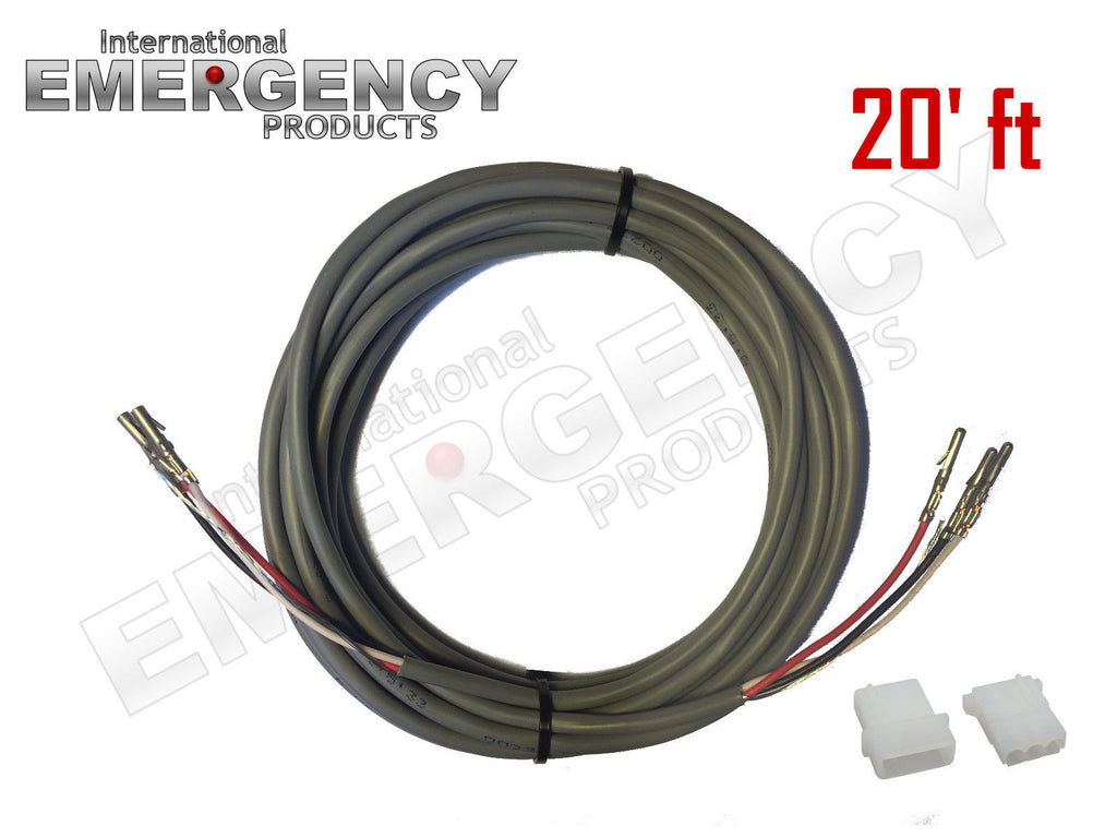 20' ft Strobe Cable 3-Wire Stranded Shielded with Ground