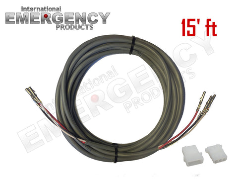 15' ft Strobe Cable 3-Wire Stranded Shielded with Ground