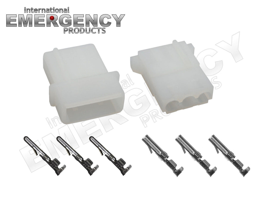 4 Sets 3 Pin Connectors For Strobe Amp Power Supplies Bulbs Whelen Supply Wiring Diagram Cables