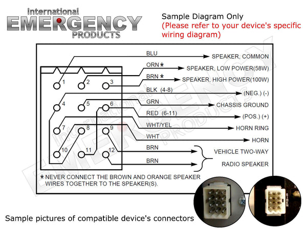 12 Pin Connector Plug for Federal Signal Smart Siren SS2000-SS PA300 Vista SS200