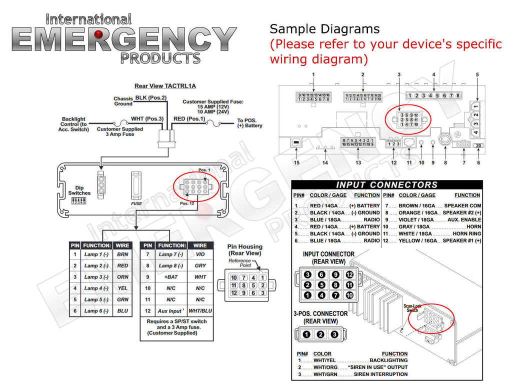 whelen siren 295slsa6 wiring diagram 36 wiring diagram images  12 pin connector plug for whelen traffic advisors & sirens whelen csp660 wiring diagram