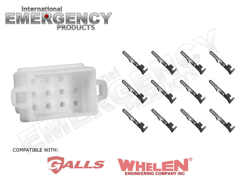 12 pin connector plug for whelen traffic advisors & sirens galls street thunder wiring-diagram street thunder wiring diagram whelen siren #12