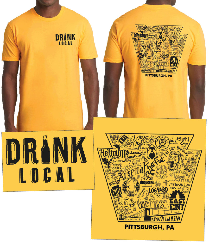 """Drink Local Beer"" Pittsburgh Brewery Tee"