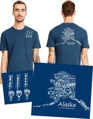 """Drink Local Beer"" Alaska Brewery Pocket Tee"
