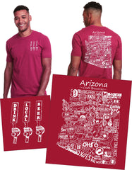 """Drink Local Beer"" Arizona Brewery Tee"