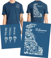 """Drink Local Beer"" Delaware Brewery Tee"