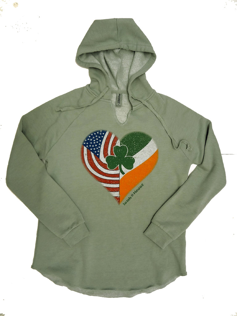 SF006 - AOH Irish @ Heart Ladies Hoodies