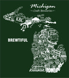 """Drink Local Beer"" Michigan Brewery Pocket Tee"