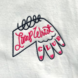Limp Wrist Club - Embroidered Tee (White)