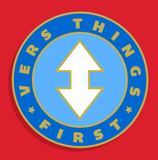 Vers Things First Enamel Pin