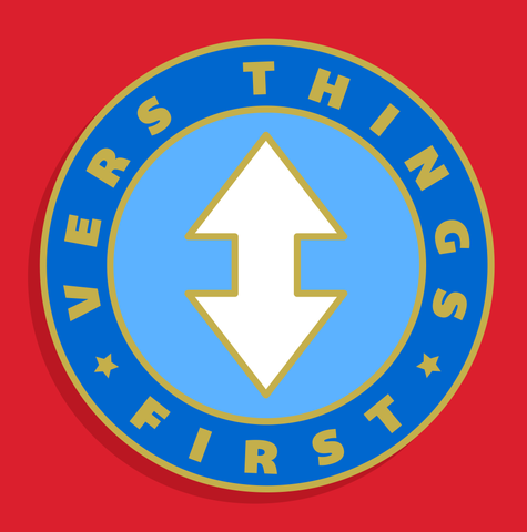 """Vers Things First"" Enamel Pin"