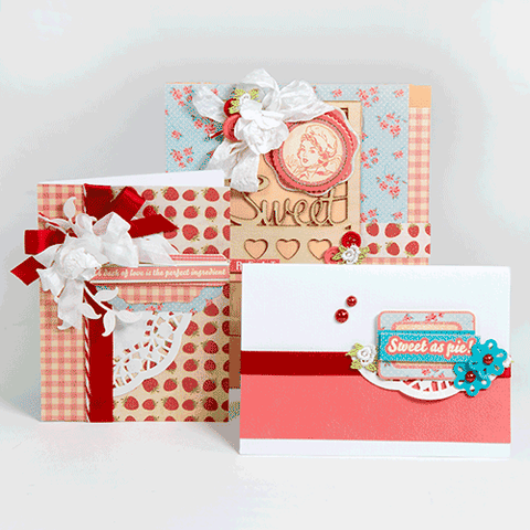 Orange & Coral Country Themed Card Kit (KOM-006)