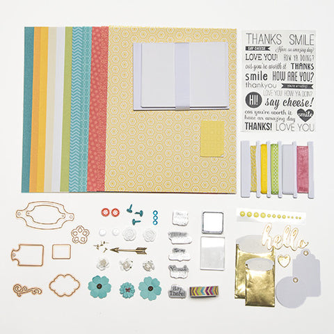 Yellow, Teal, & Coral  A Pop of Color Card Kit (KOM-010)