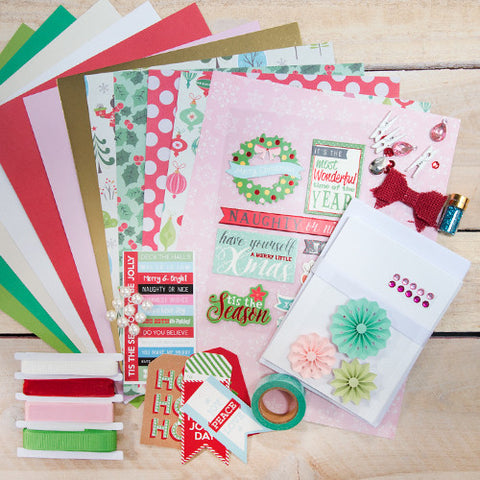 Pink & Red Love Themed Card Making Kit (KOM-003)