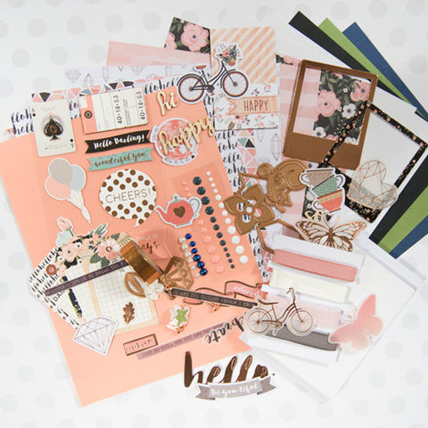 Peach & Pink Floral Themed 2016 Card Kit (KOM-JAN17)