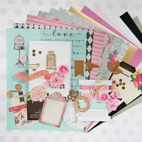Teal, Yellow, Pink All Occasions Card Kit (KOM-OCT16)