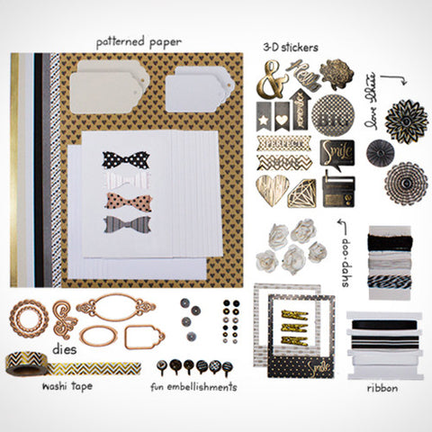 Black & Gold Shimmer Card Kit (KOM-004)