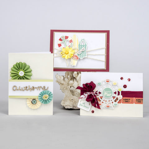 Red, Green & Yellow Summer Themed Card Kit (KOM-007)
