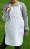 Child's Embroidered Duck Apron