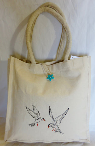 Embroidered Sea Tern - Canvas Bag