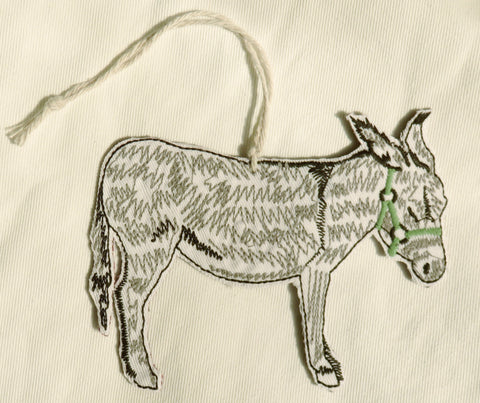 Sidekick - Embroidered Donkey Ornament