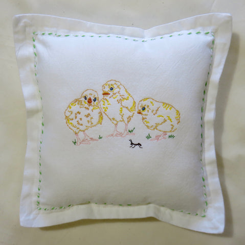 Spring Chicken Decorative Pillow-Green