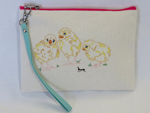 Spring Chicken Wallet w/Pink Zipper