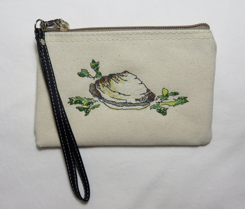 Steamer - Embroidered Clam Wallet